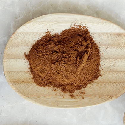 The inner bark of a tropical evergreen tree is what we have come to know as cinnamon. There are two varieties: Ceylon and cassia. Ceylon cinnamon is lighter in color and has a mild, sweet flavor. Cassia cinnamon is the most common type sold in the U.S. and has a darker color and slight bittersweet flavor.