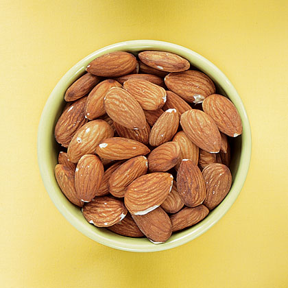 These versatile nuts, rich in vitamin E, add delicate flavor and crunch to a variety of dishes and can be found throughout the year. Their sweet flavor is also highlighted in almond extract and almond paste.