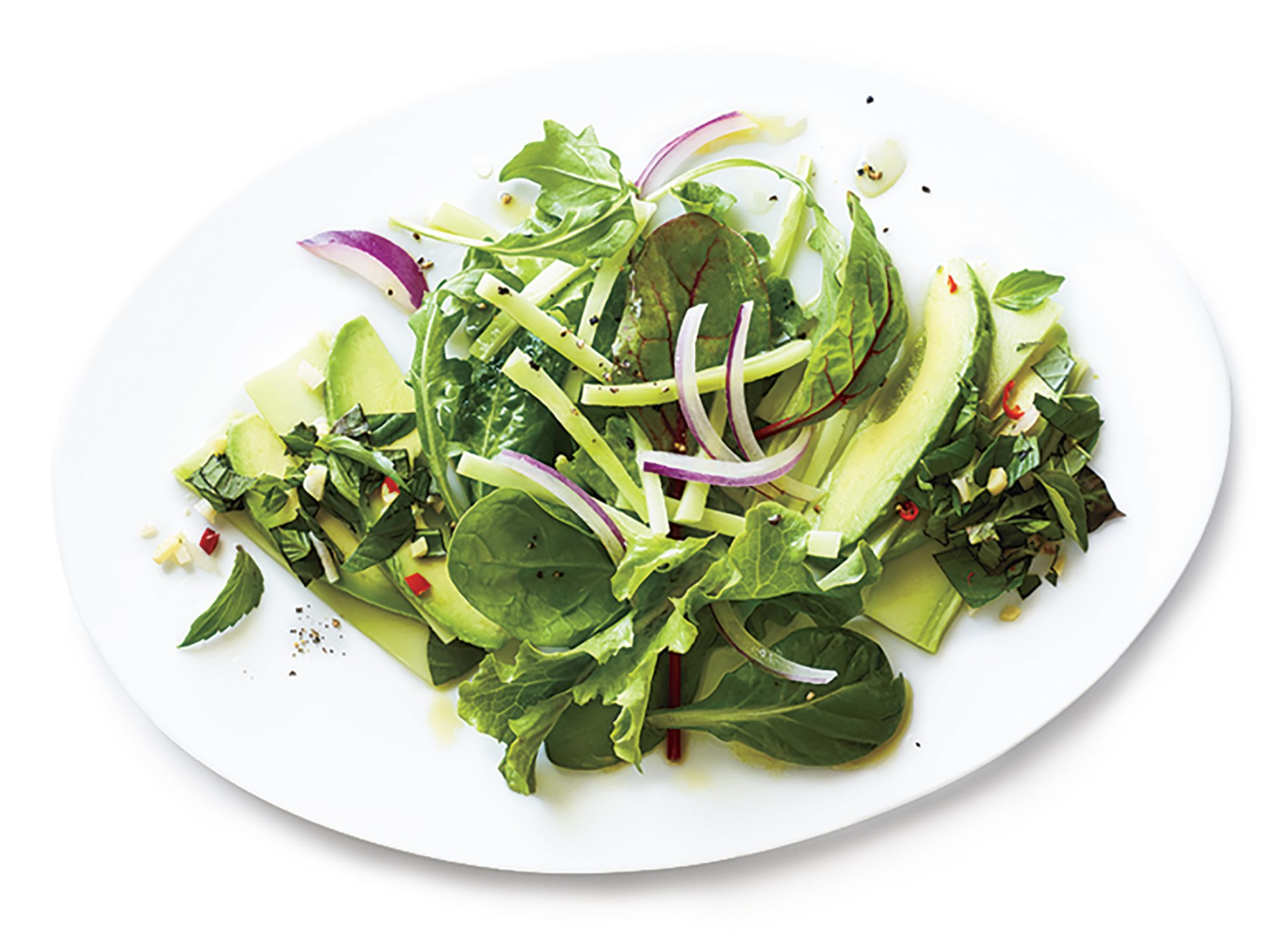 Broccoli Carpaccio with Broccoli Stalk Salad