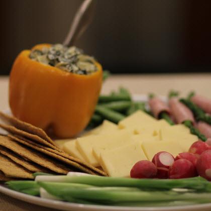 Early-Season Farmers' Market Cheese Tray