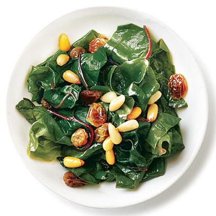 Golden Raisins and Pine Nuts Swiss Chard Recipe