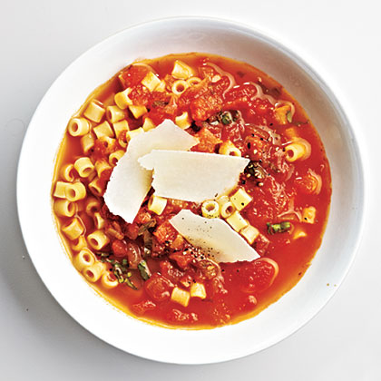 Slow-Cooker Marinara Sauce from yesterday serves as the base in this dreamy tomato soup with ditalini pasta and shaved pecorino Romano cheese.Italian Tomato Soup Recipe
