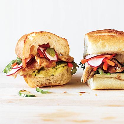 Vietnamese Chicken Sandwiches