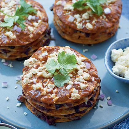 Vegetarian Enchilada Pies Recipe