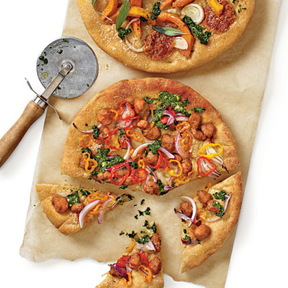 Whole Wheat Pesto Pizza