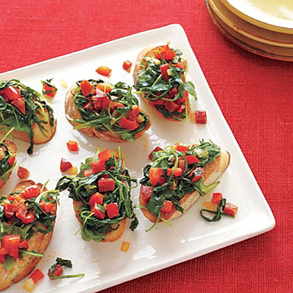 Bruschetta with Peppers and Pepperoni