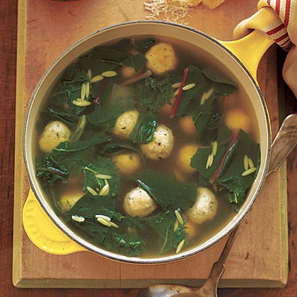 Chicken Meatball and Greens Soup Recipe