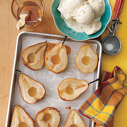 Pack a little more fruit into your meals with a simple dessert of Honey-Roasted Pears.Honey-Roasted Pears Recipe