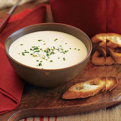 Potato, Onion and Blue Cheese Soup