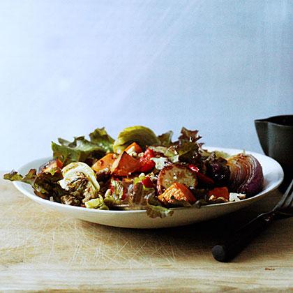 Roasted Vegetable Salad with Honey Dressing