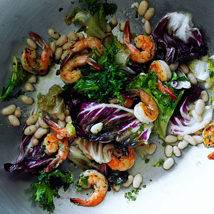 Shrimp and White Bean Salad with Lemon Dressing