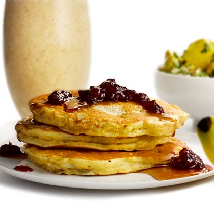 <p>PB and B Pancakes</p>