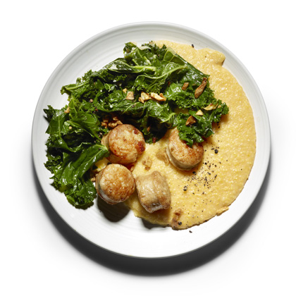 <p>Braised Kale, Sausage, and Creamy Polenta</p>