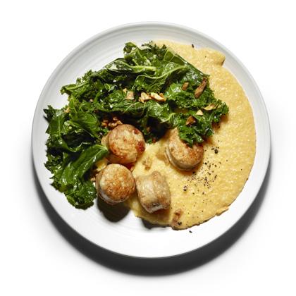 <p>Braised Kale, Sausage, and Creamy Polenta</p>