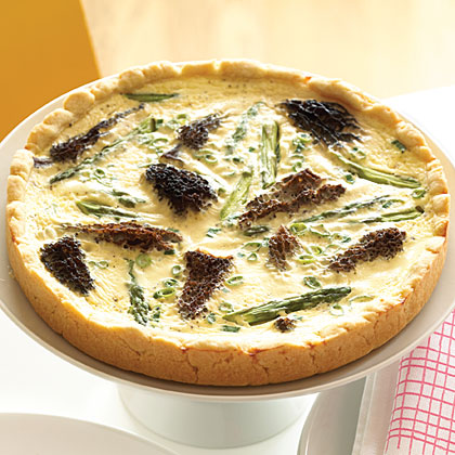 Asparagus and Morel Quiche