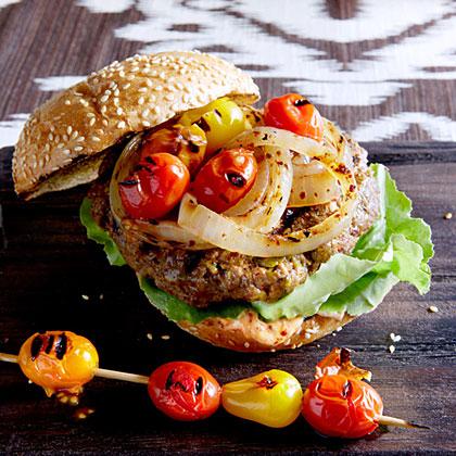 Pistachio, Lamb, and Beef Burgers