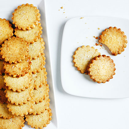 Walnut Shortbread Cookies with Flake Salt and Citrus Recipe