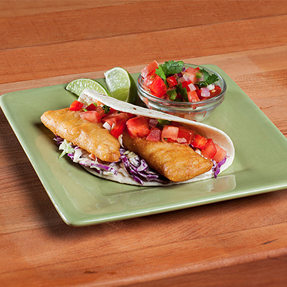 The neelys 39 fish tacos with easy cabbage slaw recipe for Fish taco red cabbage slaw