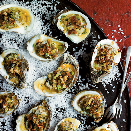 Broiled Oysters on the Half Shell Recipe   MyRecipes