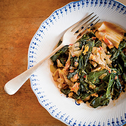 Collards and Kimchi Recipe
