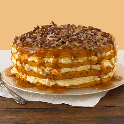 Luscious Four Layer Pumpkin Cake Recipe 0 Myrecipes