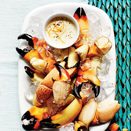 Stone Crab Claws & Zesty Orange-Horseradish Sauce Recipe | MyRecipes