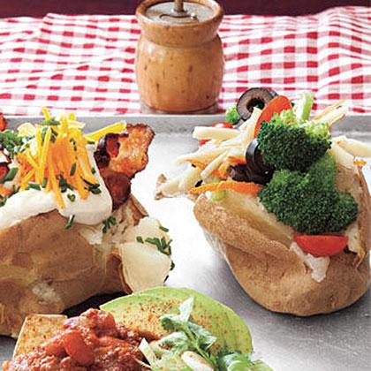 Veggie Baked Potatoes Recipe