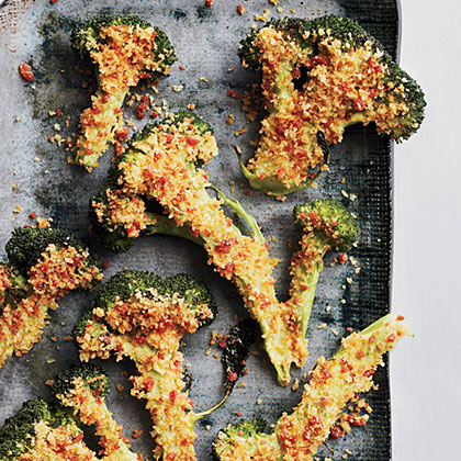 Flash-Roasted Broccoli with Spicy Crumbs