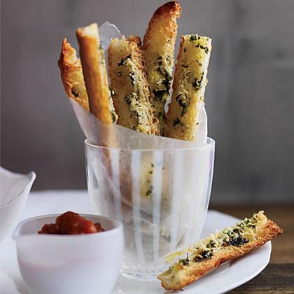 Garlic Bread  Fries  with Marinara  Ketchup