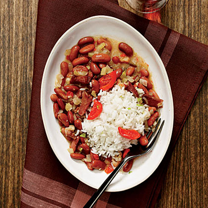 New Orleans Red Beans and Rice with Pickled Peppers Recipe