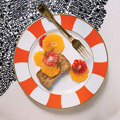 Oranges with Rosemary-Infused Honey