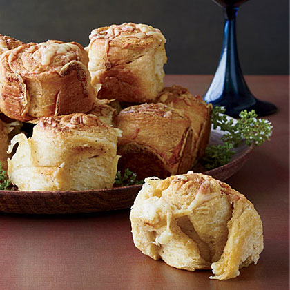 Parker House Rolls Topped with Cheddar and Old Bay Recipe