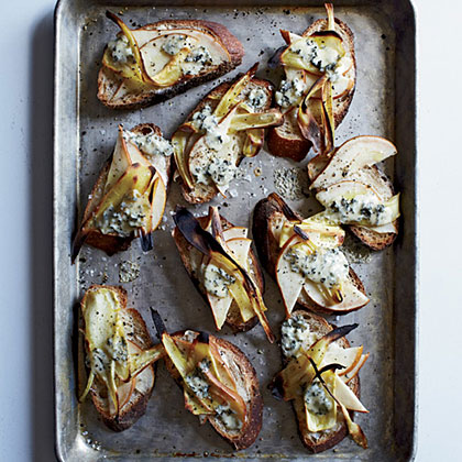 Pear, Parsnip & Fourme d'Ambert Tartines