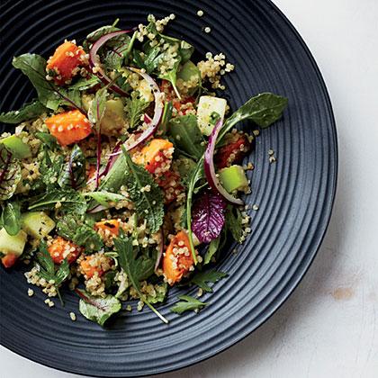 Quinoa Salad with Sweet Potatoes and ApplesRecipe