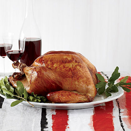 Roasted Beer-Brined Turkey with Onion Gravy and BaconRecipe