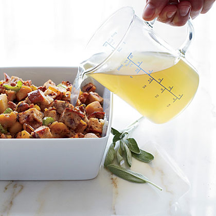 Sausage, Apple and Cranberry-Nut-Bread Dressing Recipe