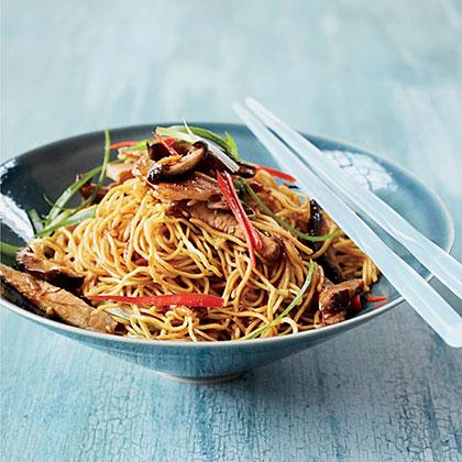 Stir-Fried Noodles with Roast Pork Recipe