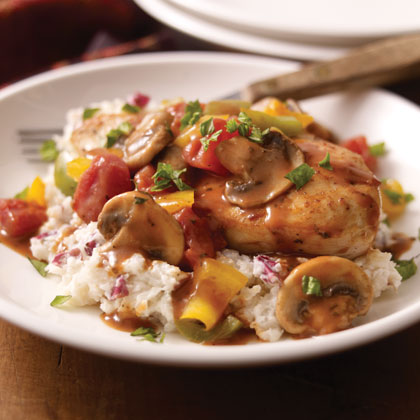 Chicken Cacciatore with Creamy Mashed Potatoes