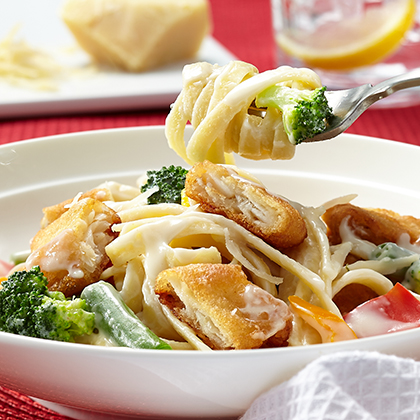 Pasta Primavera with Fish