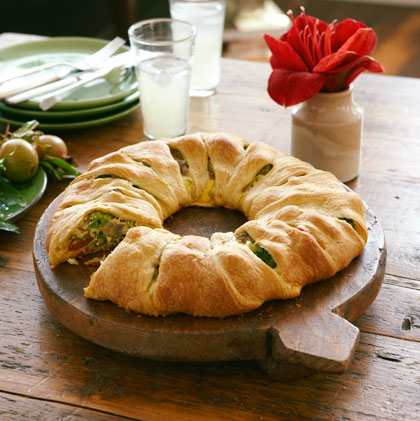 Easy Baked Cheese & Vegetable Twist