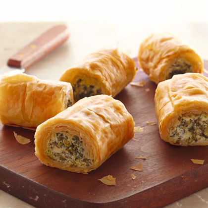 KRAFT Make-Ahead Spinach Phyllo Roll-Ups
