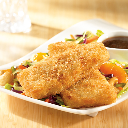 Crunchy Fish Fillets with Asian Slaw</p><p>