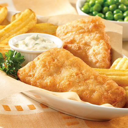 fish and chips with horseradish tartar sauce recipe myrecipes. Black Bedroom Furniture Sets. Home Design Ideas