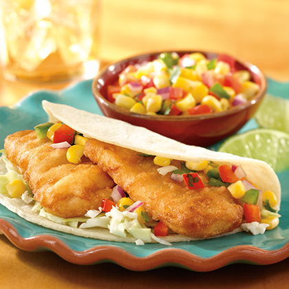 Fish Tacos with Corn Salsa