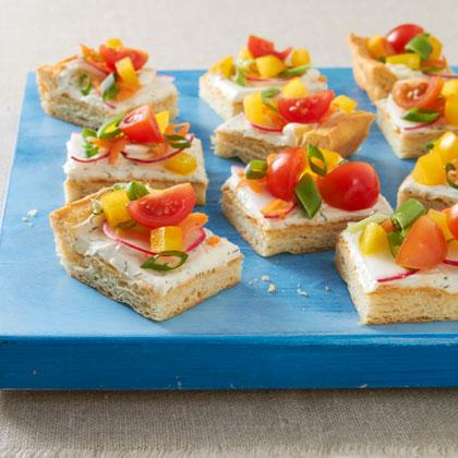 Spring Veggie Pizza Appetizer Recipe