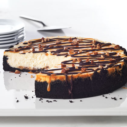 ultimate turtle cheesecake recipe myrecipes. Black Bedroom Furniture Sets. Home Design Ideas