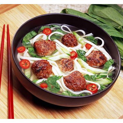 Teriyaki Meatballs with Udon Noodles