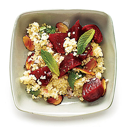Beets with Couscous, Mint, and Almond Recipe