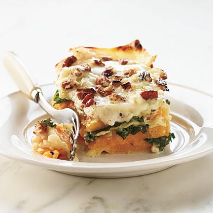 Butternut-Kale Lasagna Recipe
