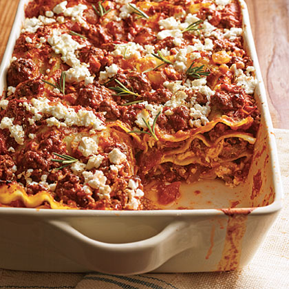 Greek Lamb and Feta Lasagna